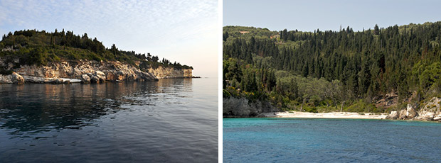 East coast of Paxos