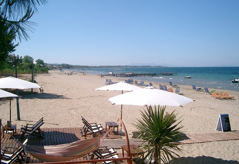 Beaches Of Corfu On South East Coast